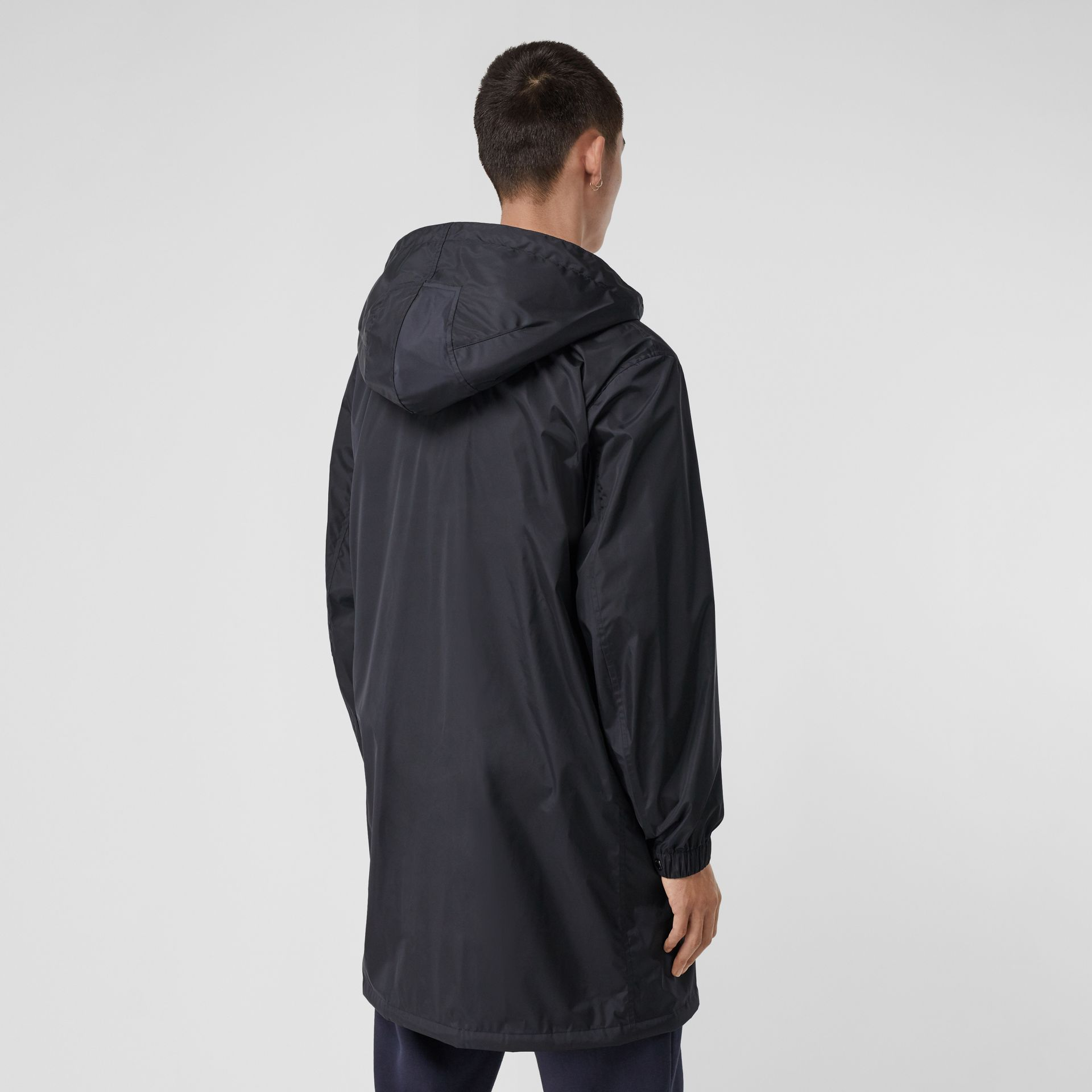 Detachable Hood Nylon Car Coat in Navy - Men | Burberry - gallery image 2