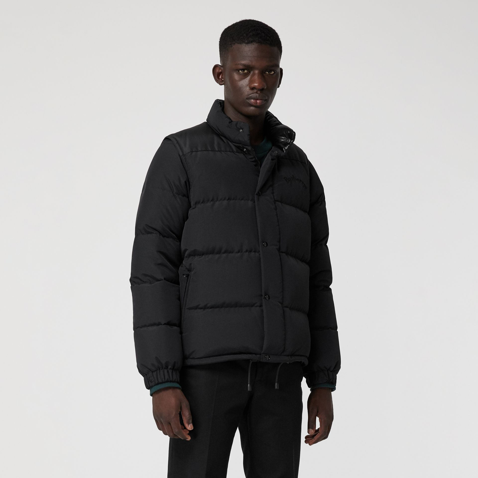 Detachable-sleeve Down-filled Puffer Jacket in Black - Men | Burberry - gallery image 6