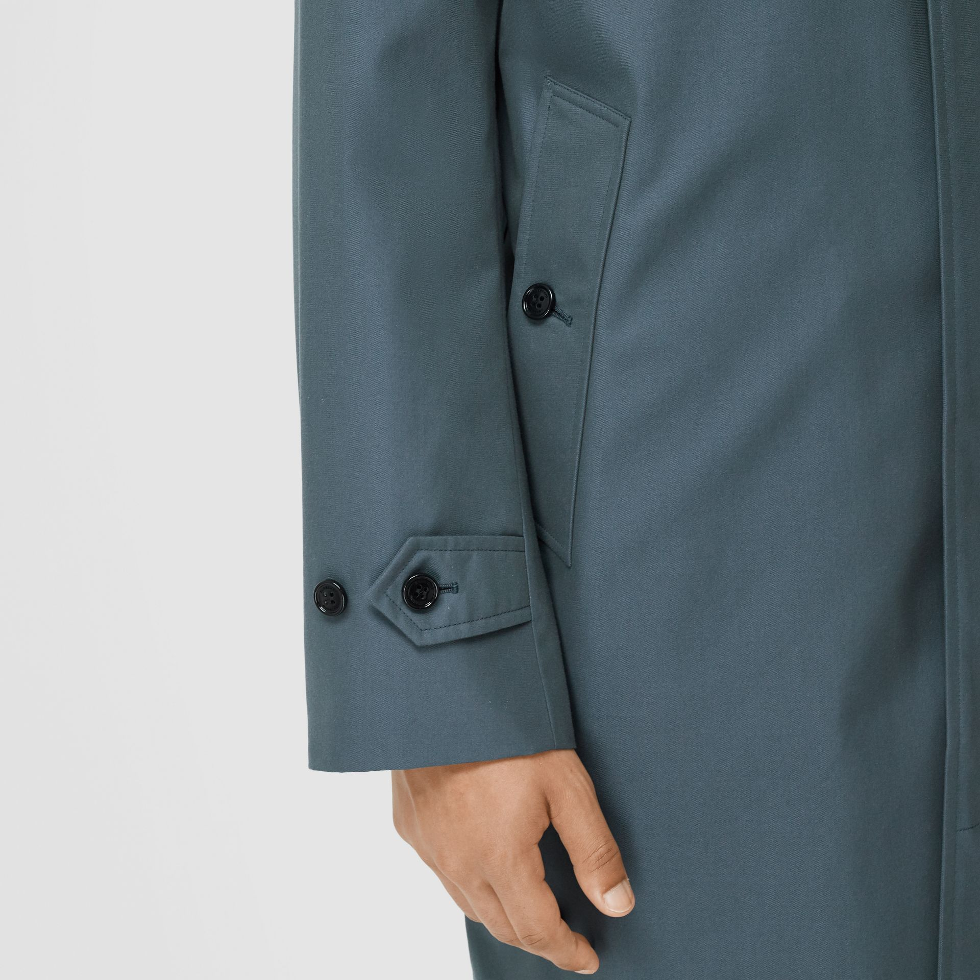 The Pimlico Heritage Car Coat in Blue - Men | Burberry - gallery image 4