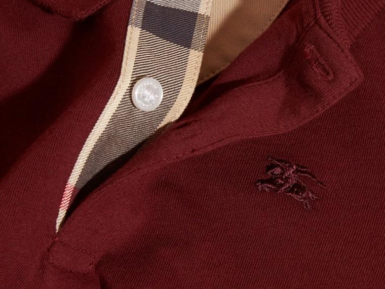 Rosso borgogna Polo in cotone a maniche lunghe Rosso Borgogna - cell image 1