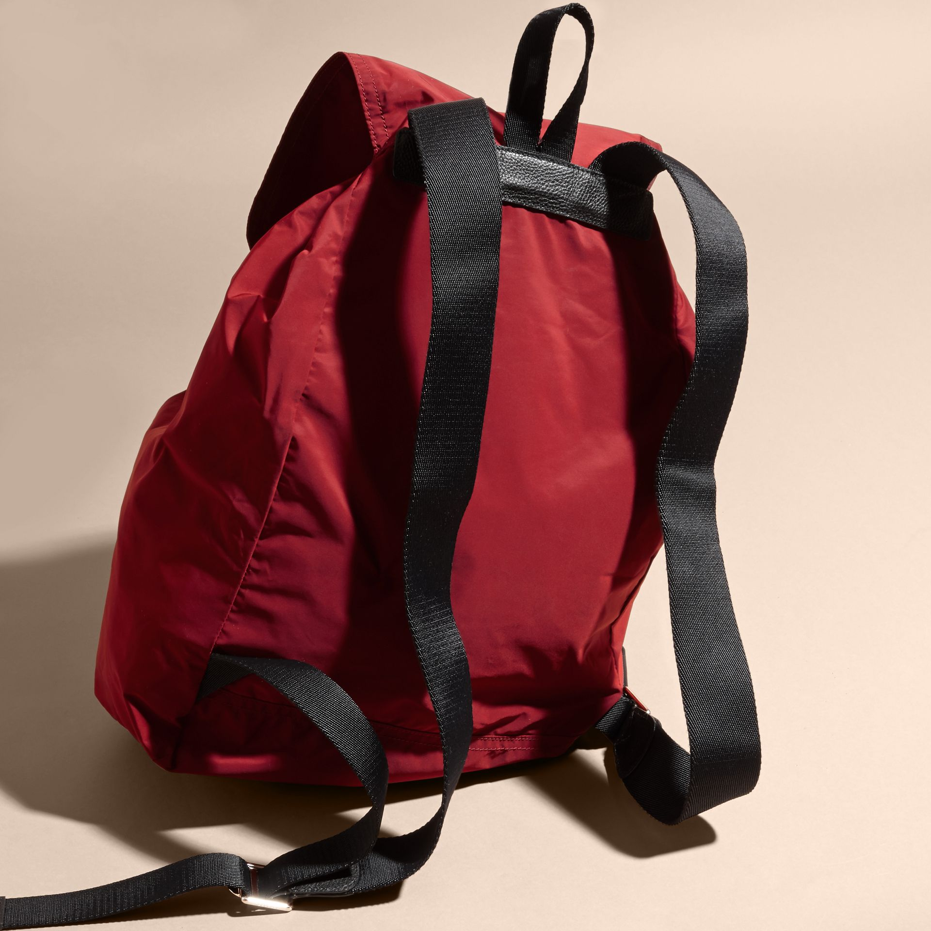 Check Detail Technical Packaway Rucksack Hawthorn Red - gallery image 4