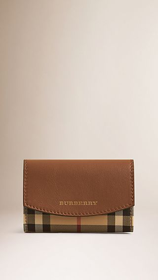 Horseferry Check and Leather Card Case
