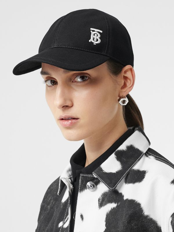 Monogram Motif Baseball Cap in Black | Burberry Canada - cell image 2