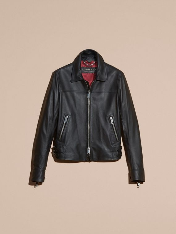Black Smooth Leather Jacket - cell image 3