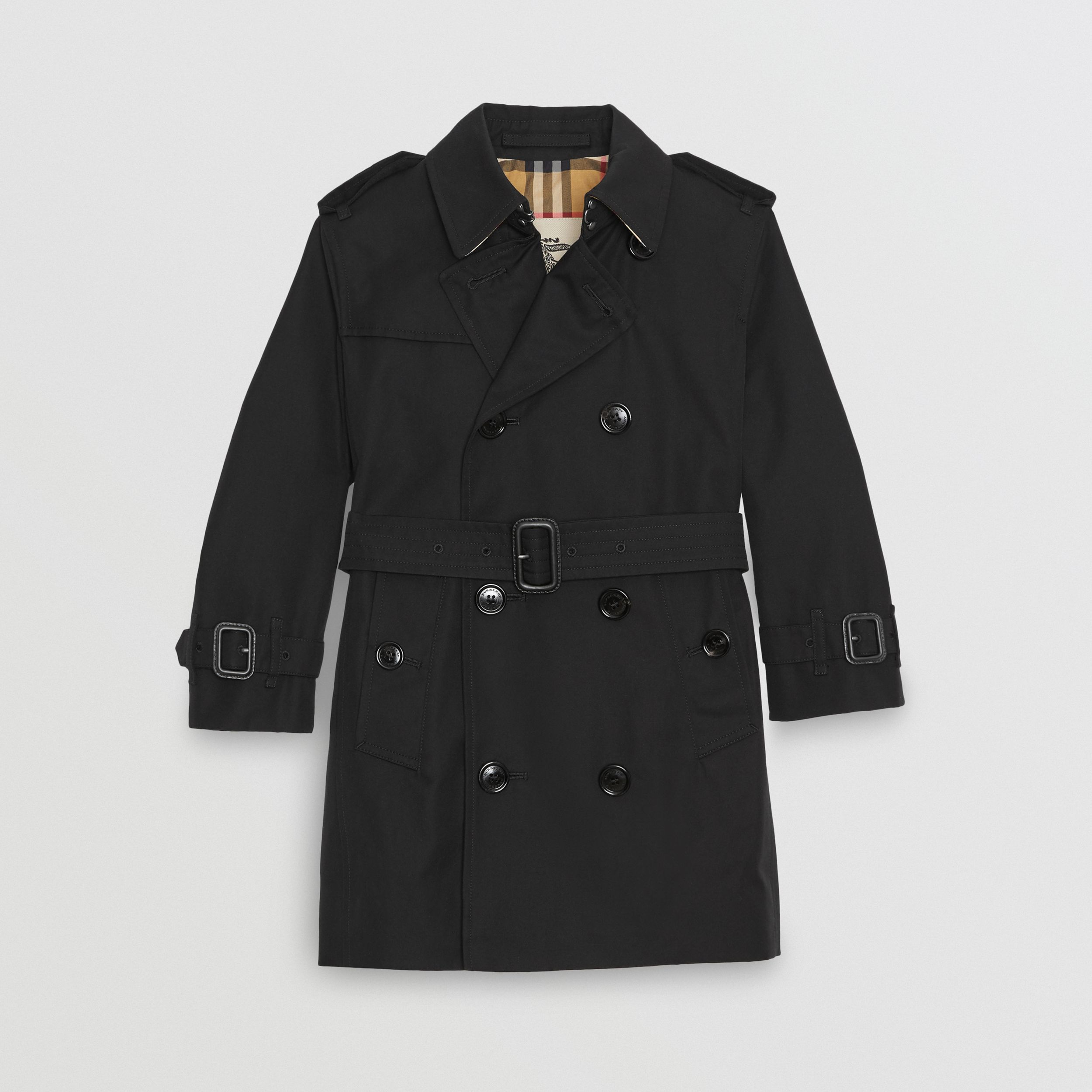 Cotton Gabardine Trench Coat in Black | Burberry - 1