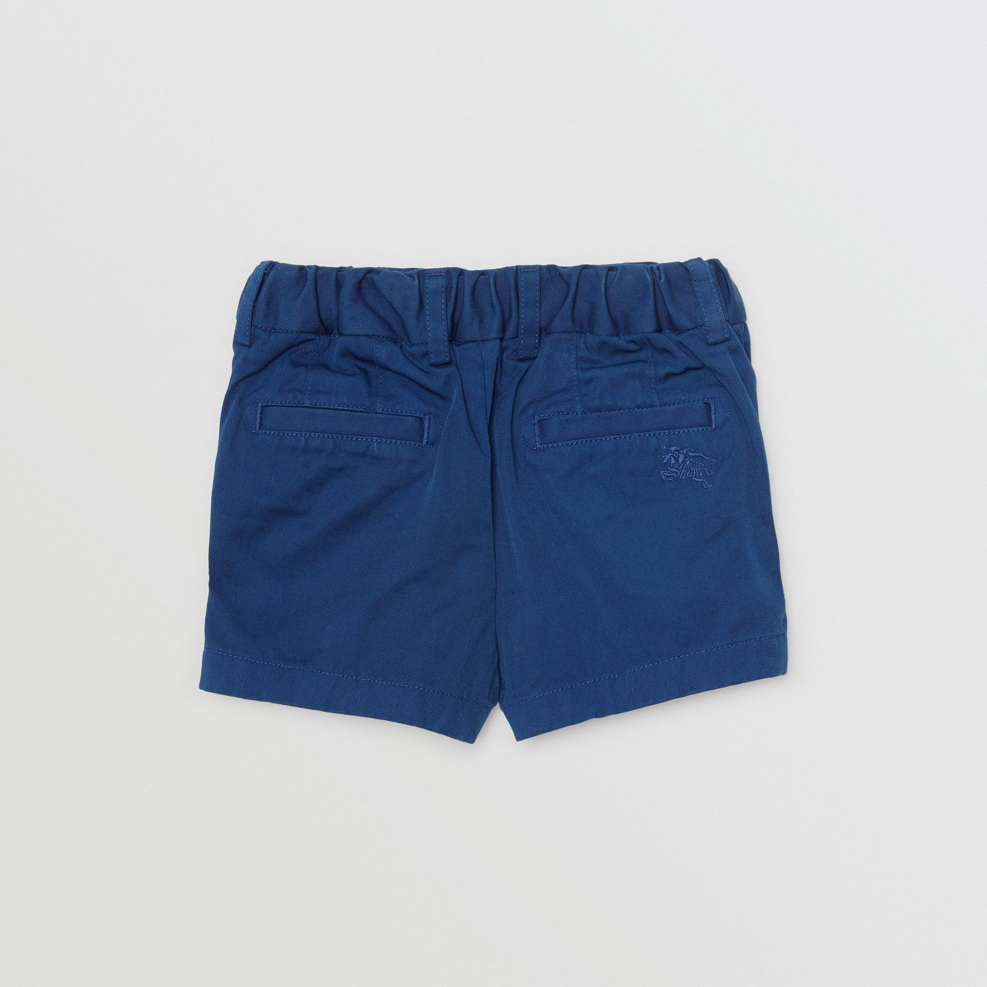 Cotton Chino Shorts in Bright Navy - Children | Burberry Australia - gallery image 3