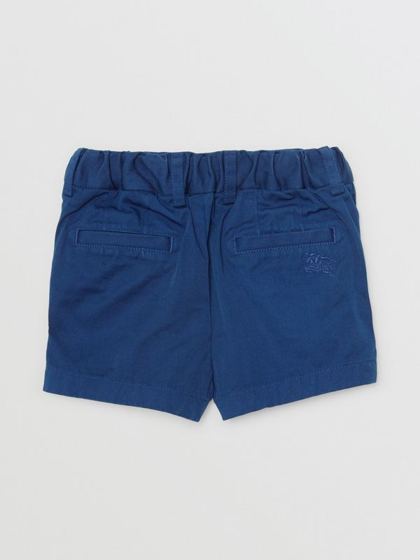 Cotton Chino Shorts in Bright Navy - Children | Burberry Australia - cell image 3