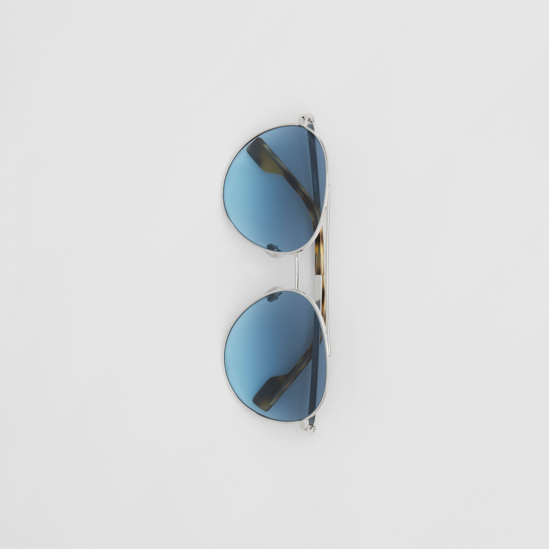 Pilot Sunglasses in Pale Blue - Women | Burberry - gallery image 3
