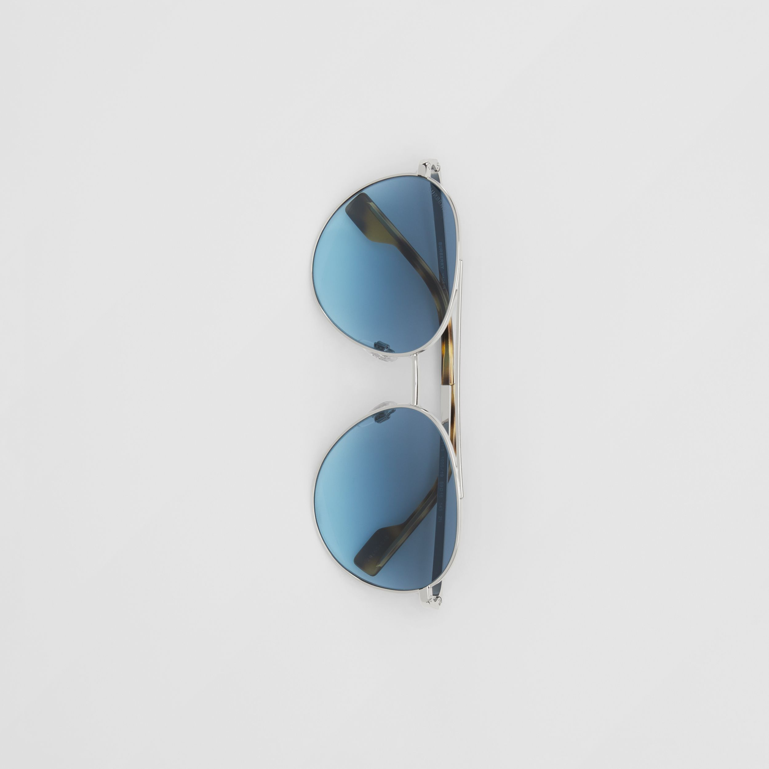 Pilot Sunglasses in Pale Blue - Women | Burberry - 4