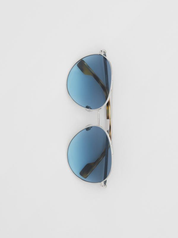 Pilot Sunglasses in Pale Blue - Women | Burberry - cell image 3