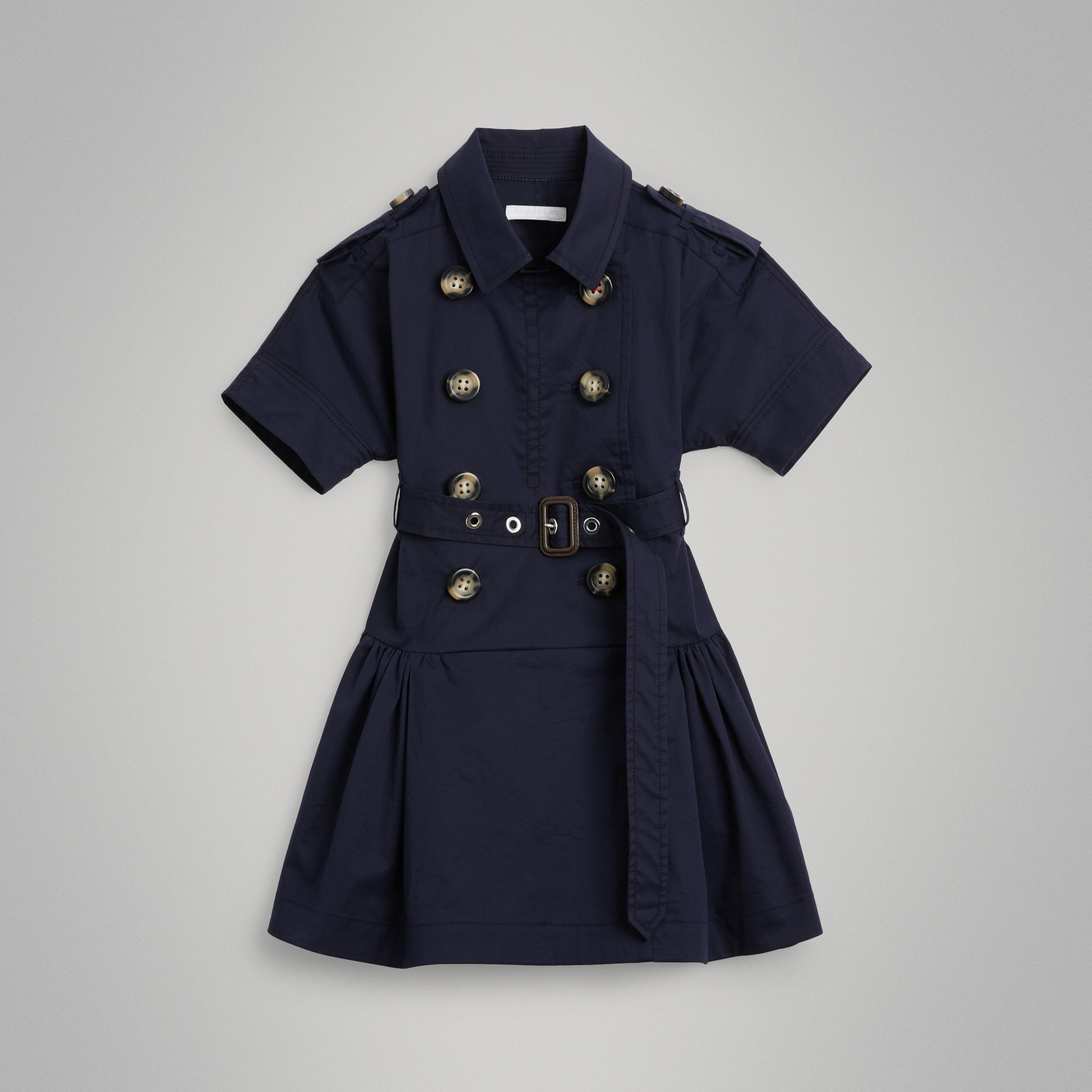 Stretch Cotton Trench Dress in Midnight | Burberry - gallery image 0
