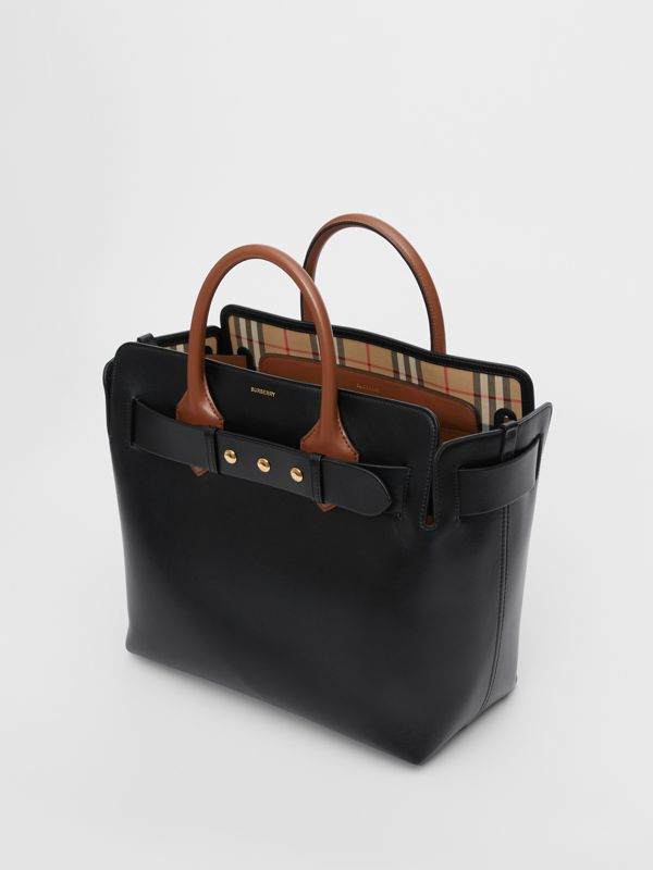 Borsa The Belt media in pelle con tre borchie (Nero) - Donna | Burberry - cell image 3