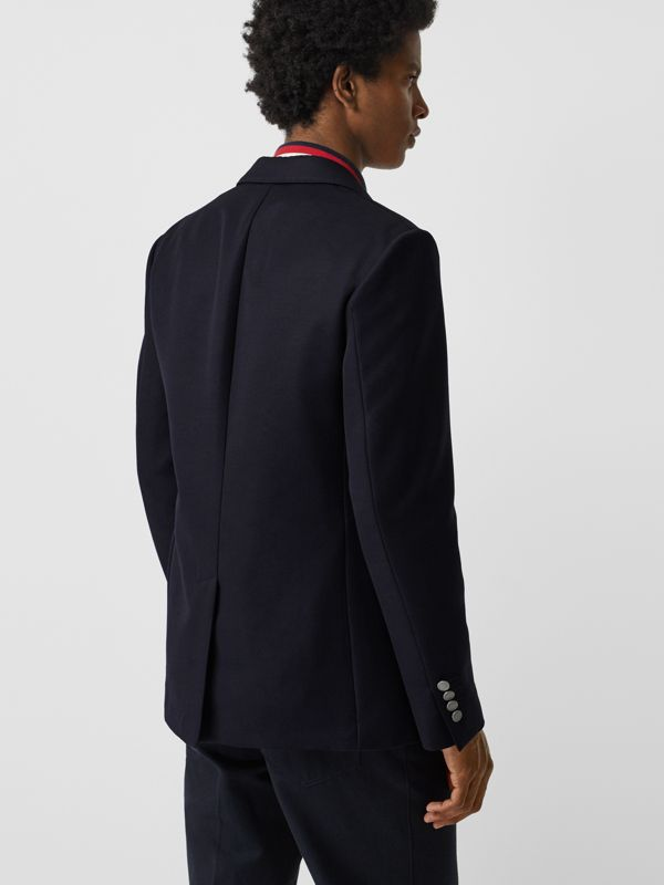 Slim Fit Metal Button Wool Gabardine Blazer in Navy - Men | Burberry - cell image 2