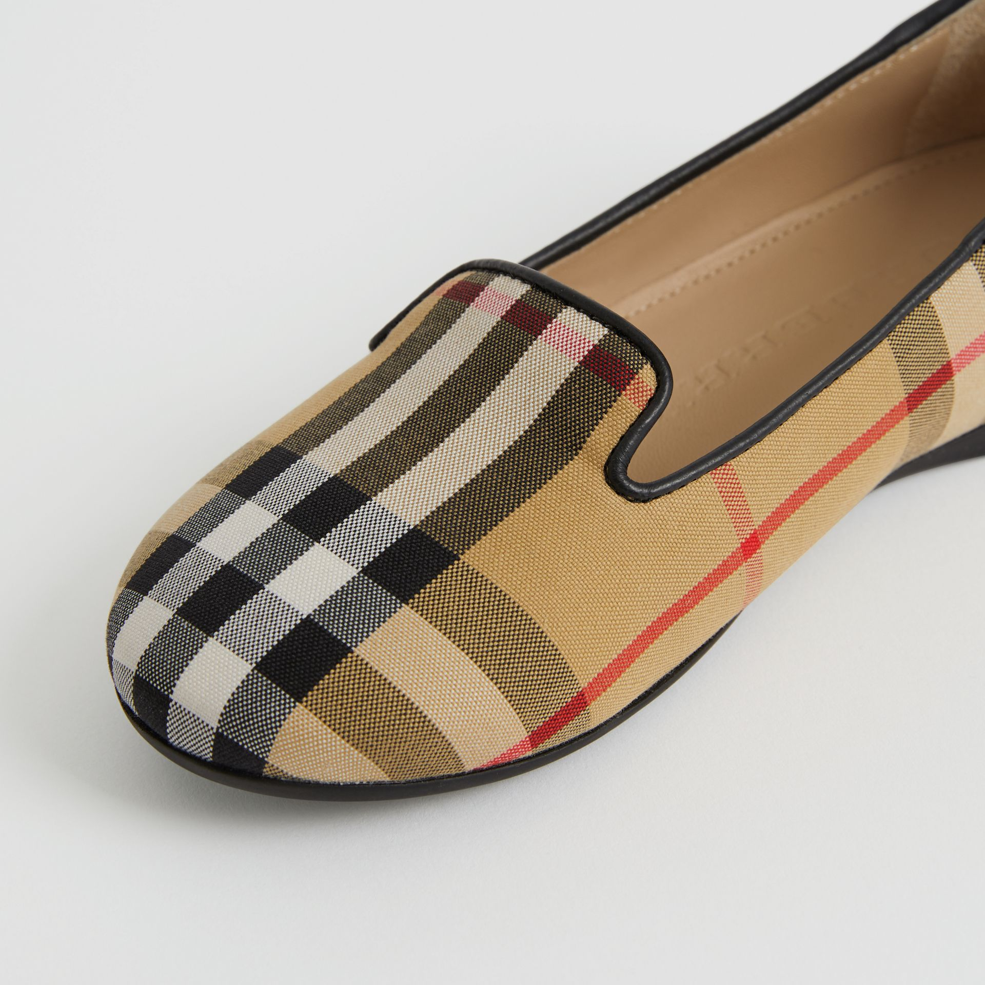 Chaussures sans lacets à motif Vintage check (Jaune Antique) | Burberry - photo de la galerie 1