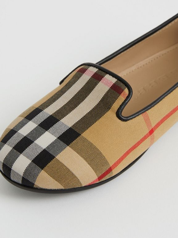 Chaussures sans lacets à motif Vintage check (Jaune Antique) | Burberry - cell image 1