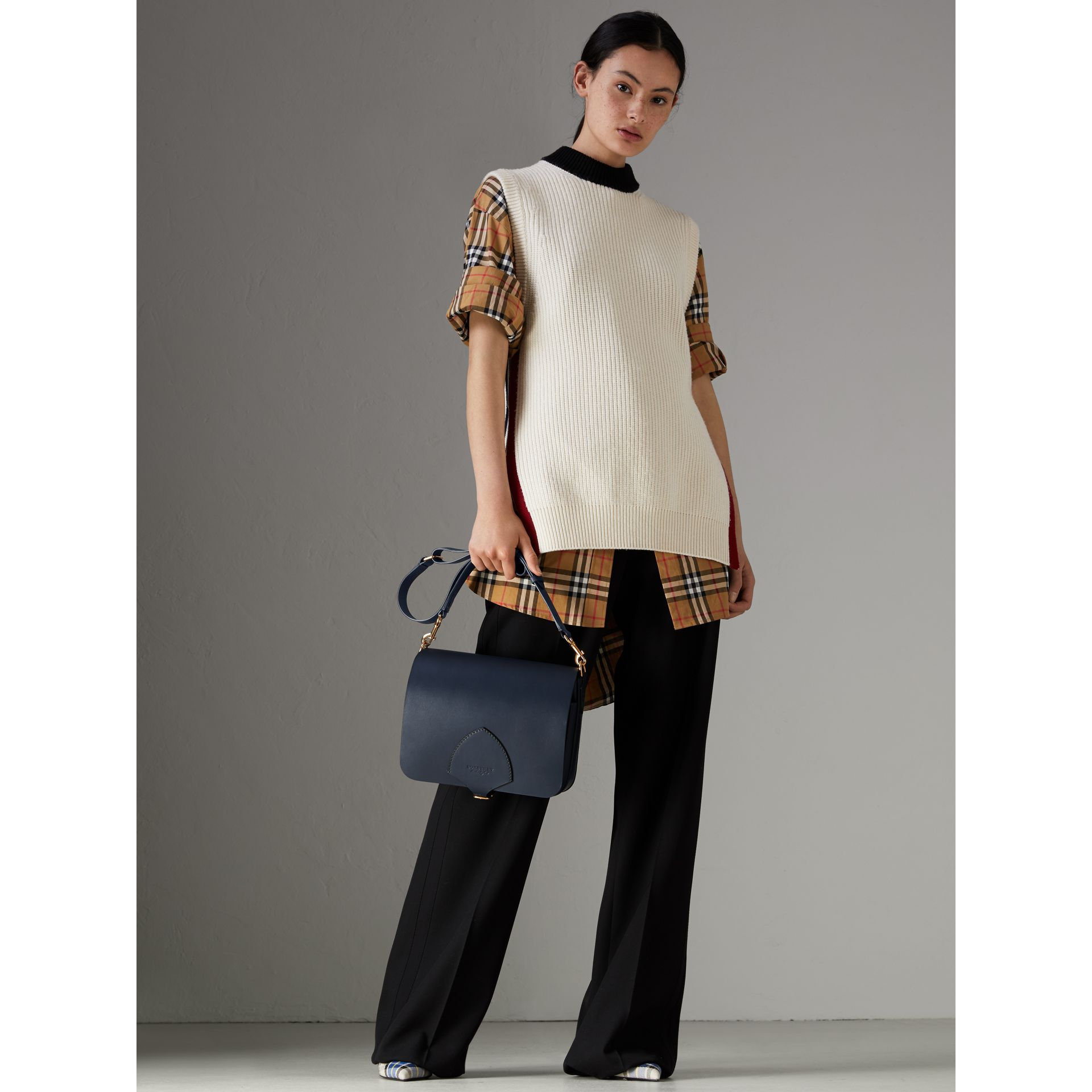 The Large Square Satchel aus Leder (Mittelindigo) - Damen | Burberry - Galerie-Bild 2