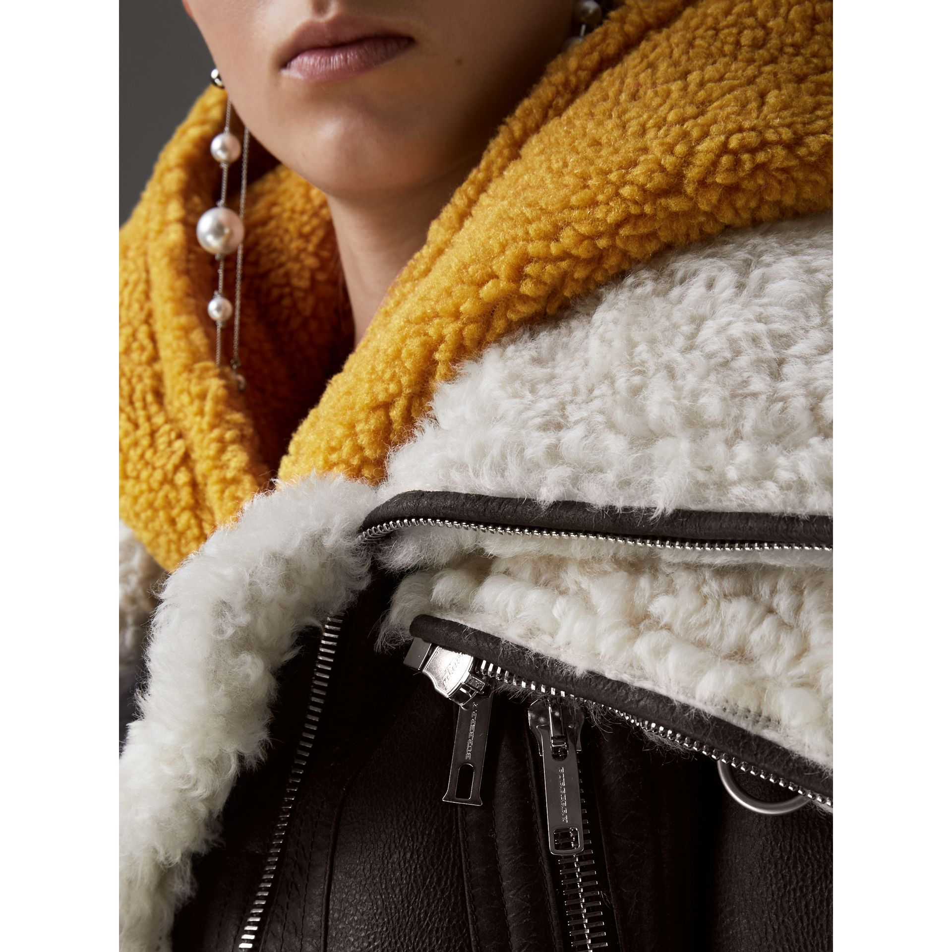 Reissued 2010 Shearling Aviator in Chocolate - Women | Burberry - gallery image 1
