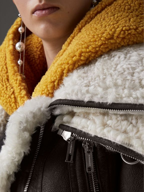 Reissued 2010 Shearling Aviator in Chocolate - Women | Burberry United States - cell image 1