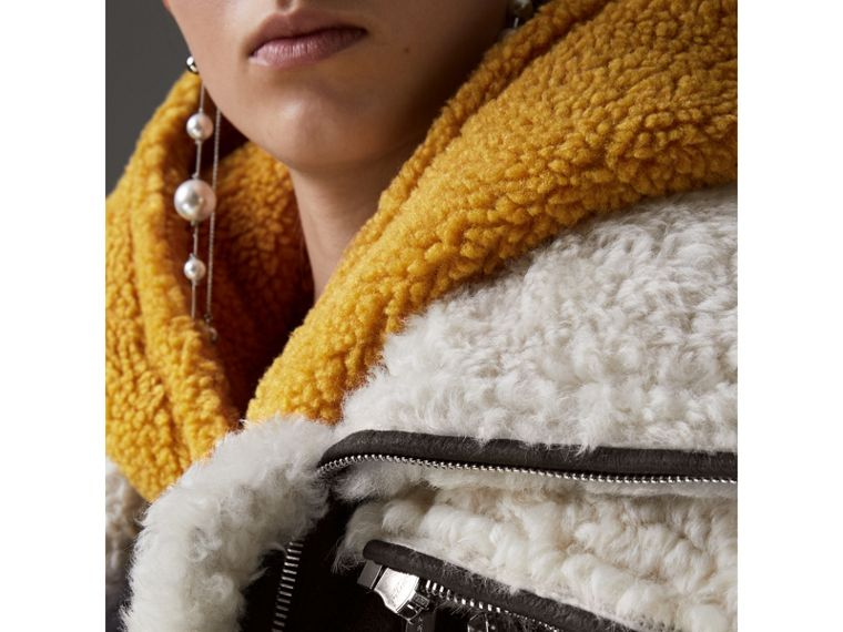 Reissued 2010 Shearling Aviator in Chocolate - Women | Burberry - cell image 1