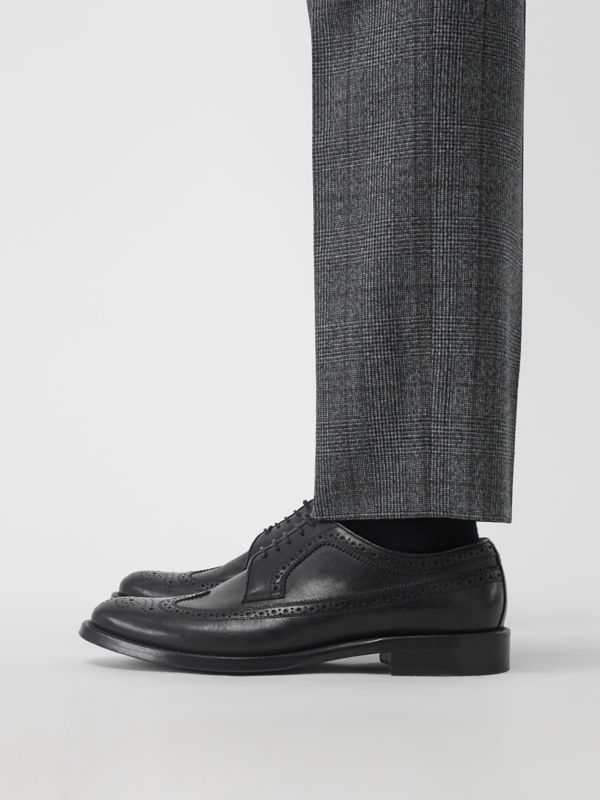 Leather Derby Brogues in Black - Men | Burberry United States - cell image 2