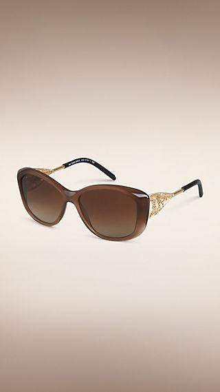 Gabardine Collection Square Frame Sunglasses