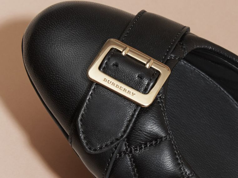 Buckle Detail Quilted Lambskin Ballerinas - Women | Burberry - cell image 1