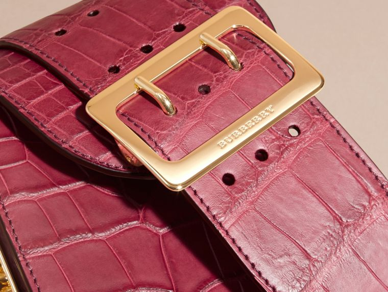 Alizarin crimson The Buckle Bag – Oblong in Alligator - cell image 1