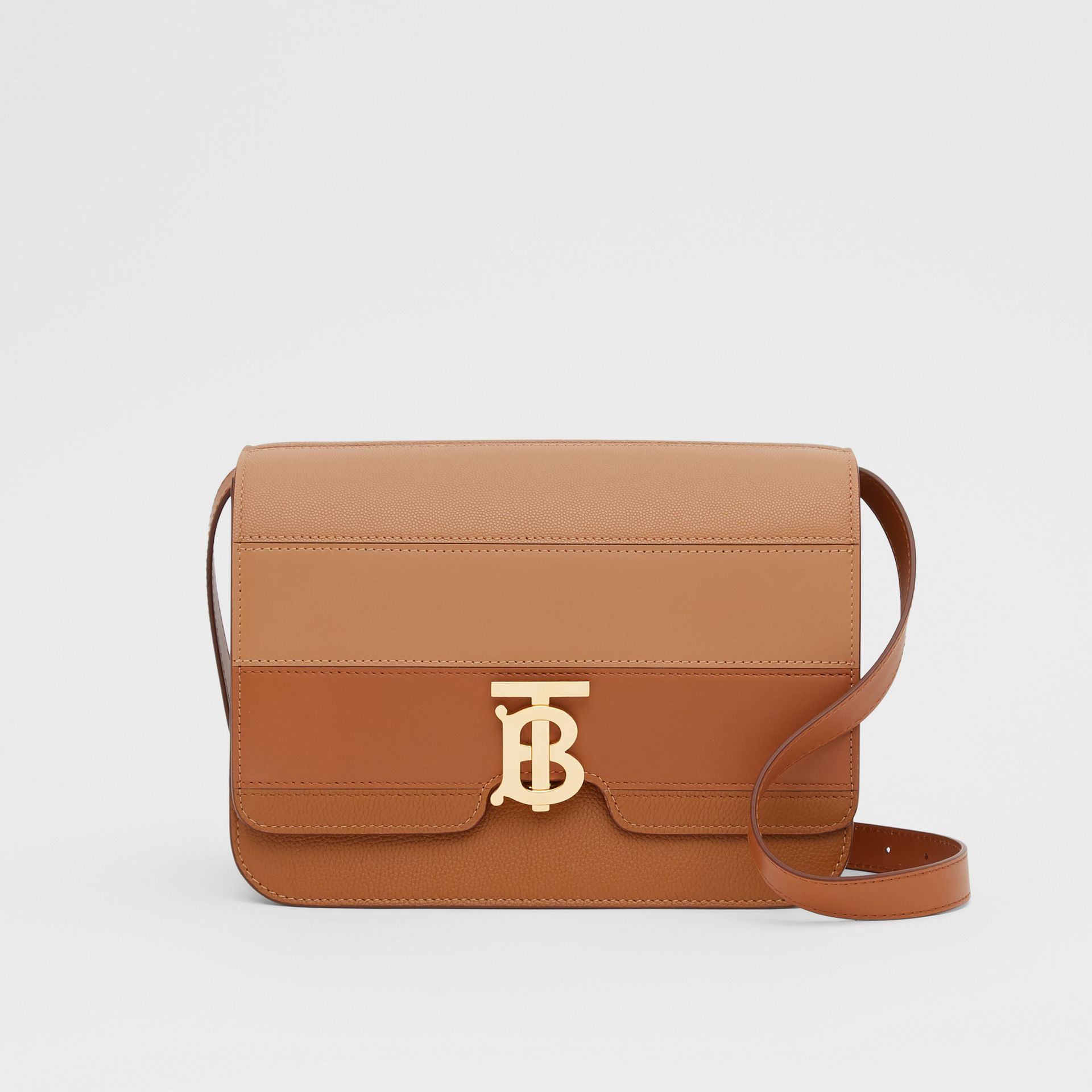 Medium Panelled Leather TB Bag in Maple - Women | Burberry - gallery image 0