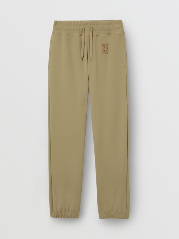 Monogram Motif Technical Trackpants in Camel - Women | Burberry - cell image 3