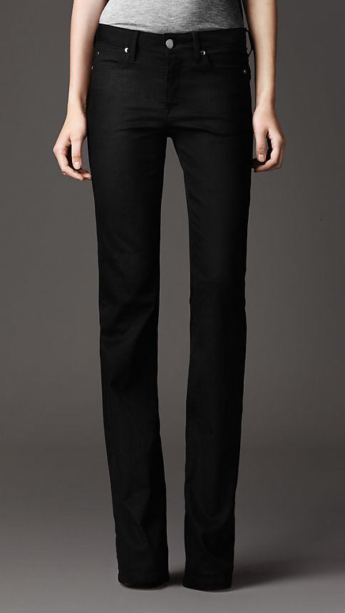 Black Harwood Black Flared Jeans - Image 2