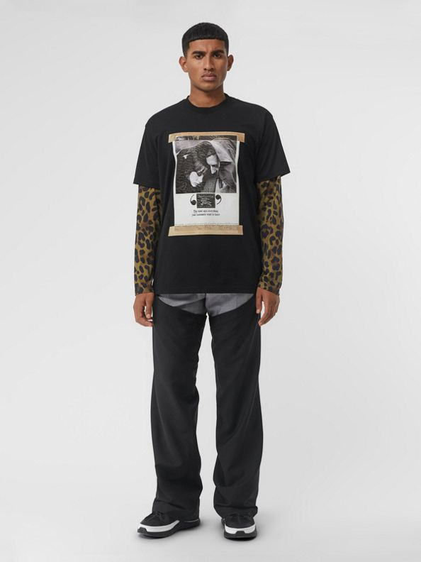 Archive Campaign Print Cotton T-shirt in Black