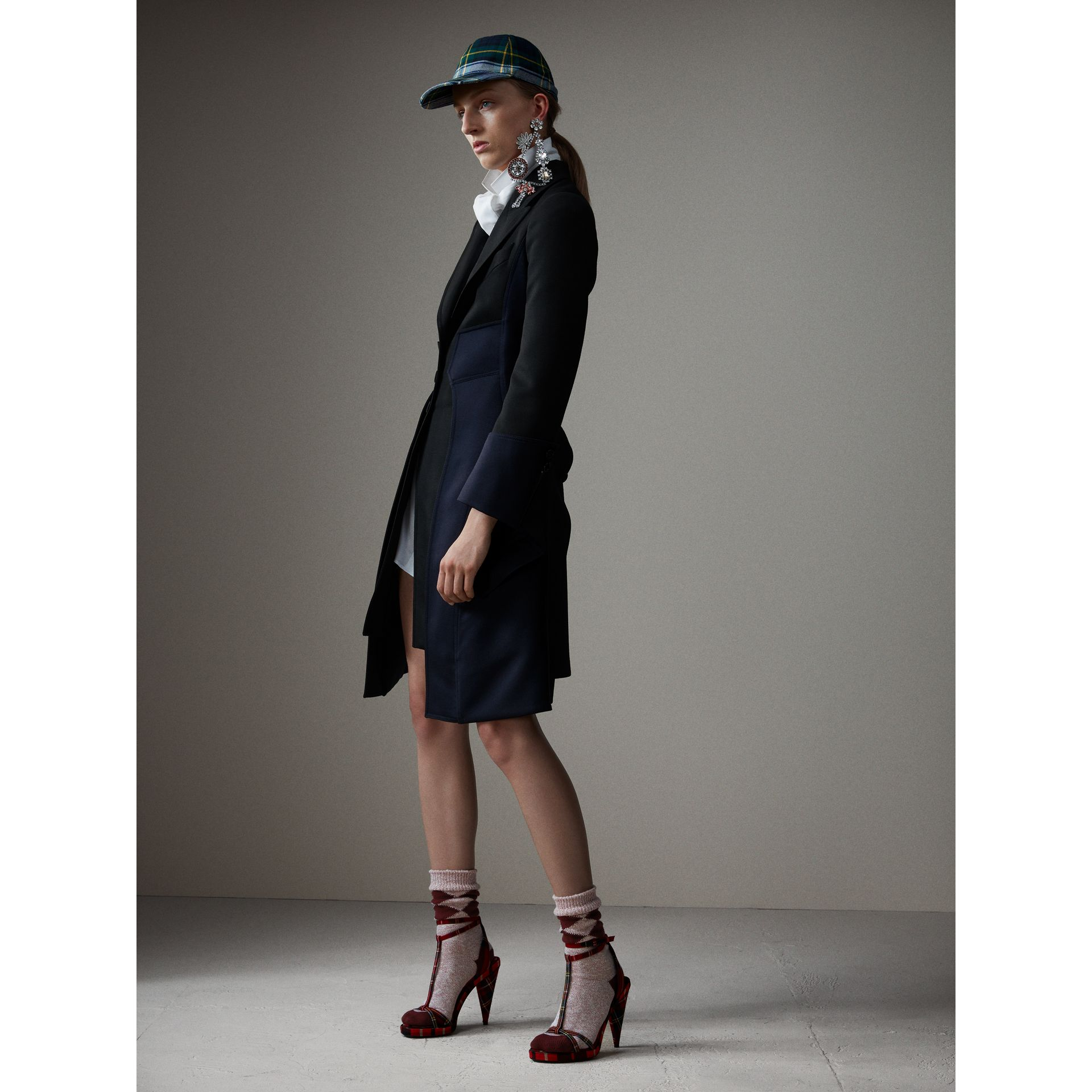 Wool Dressage Coat in Black - Women | Burberry - gallery image 6