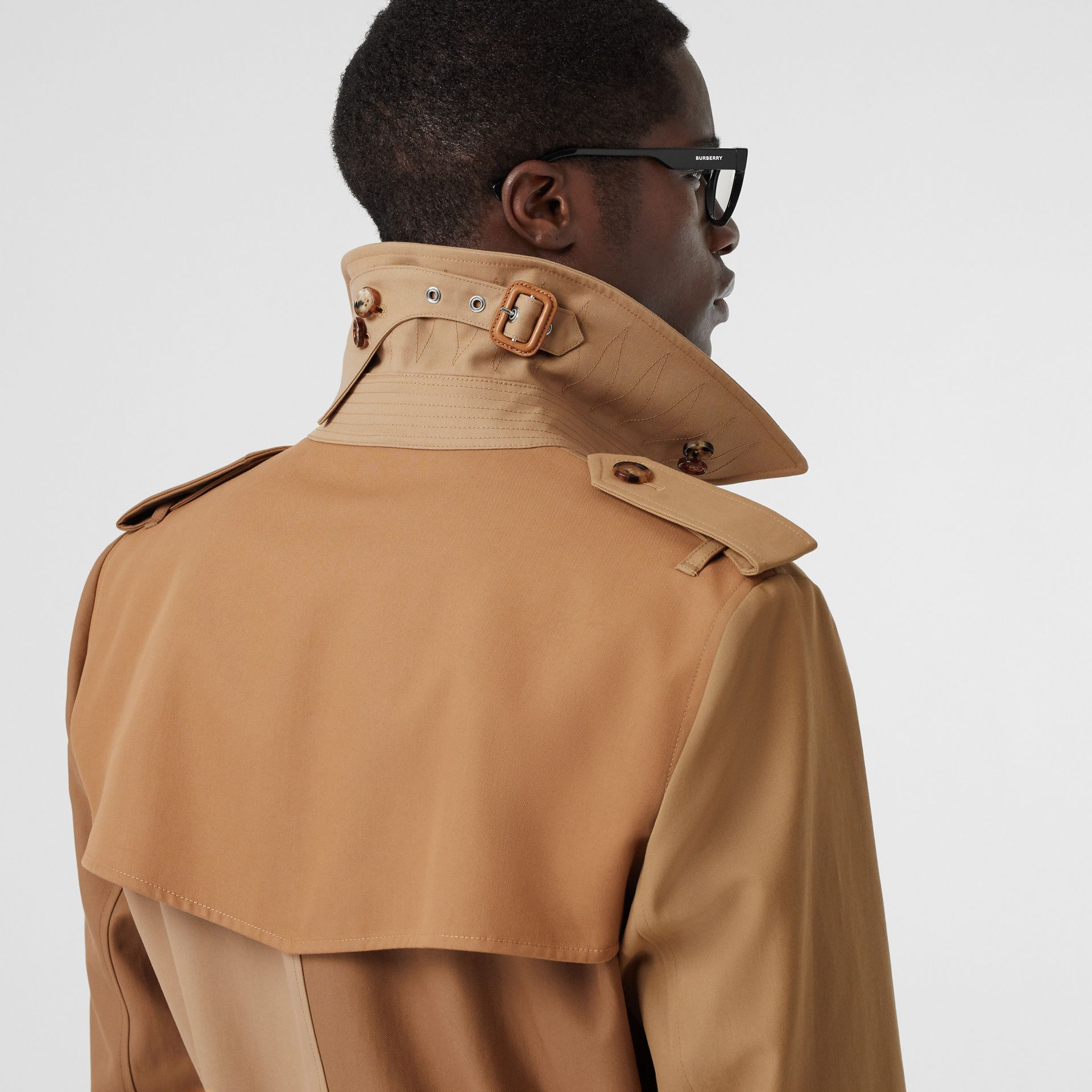 Panelled Cotton Trench Coat in Warm Camel - Men | Burberry Australia - gallery image 4