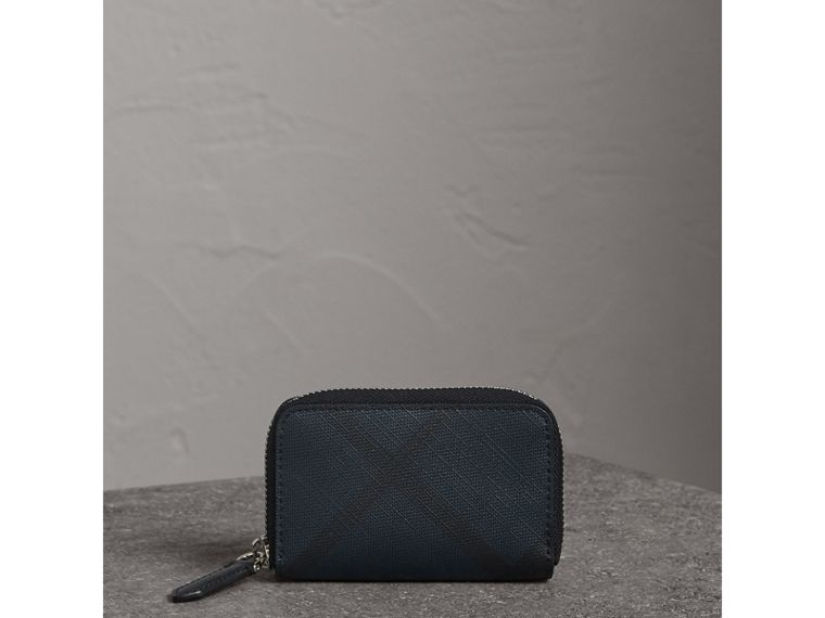 London Check Ziparound Coin Case in Navy/black - Men | Burberry - cell image 4
