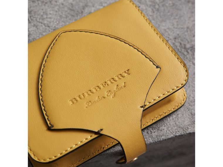 Equestrian Shield Leather Card Case in Larch Yellow | Burberry - cell image 1