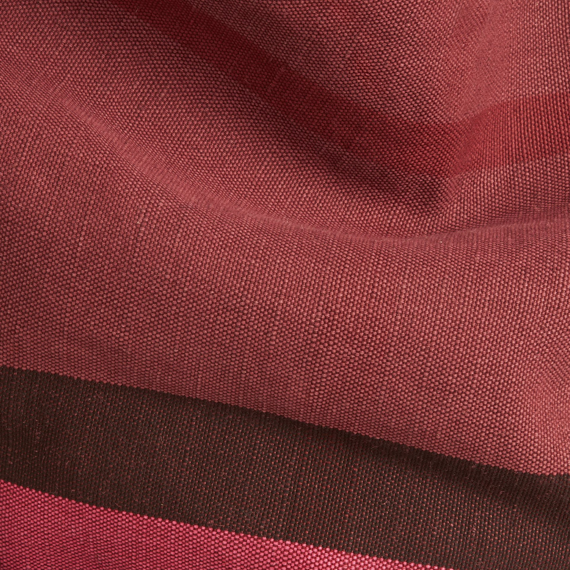 Plum The Medium Ashby in Overdyed Canvas Check and Leather Plum - gallery image 2
