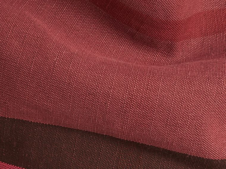 Plum The Medium Ashby in Overdyed Canvas Check and Leather Plum - cell image 1