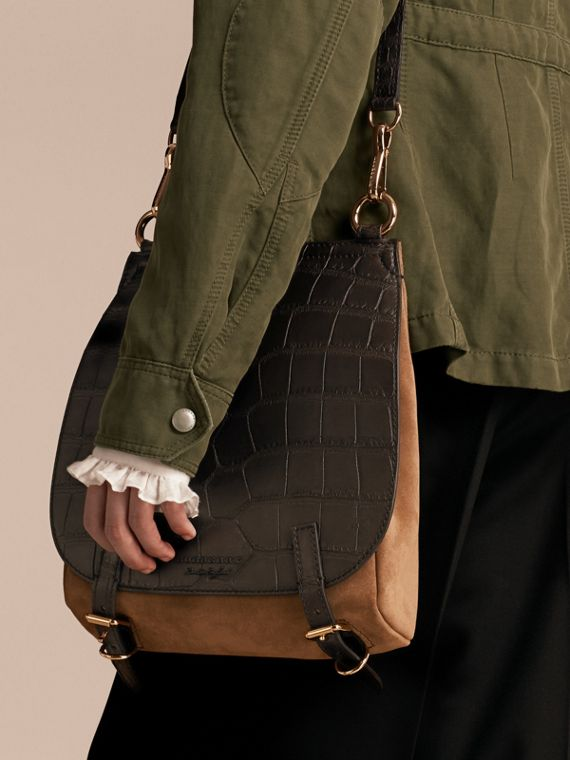 The Small Bridle Bag in Alligator and Suede - Men | Burberry - cell image 2