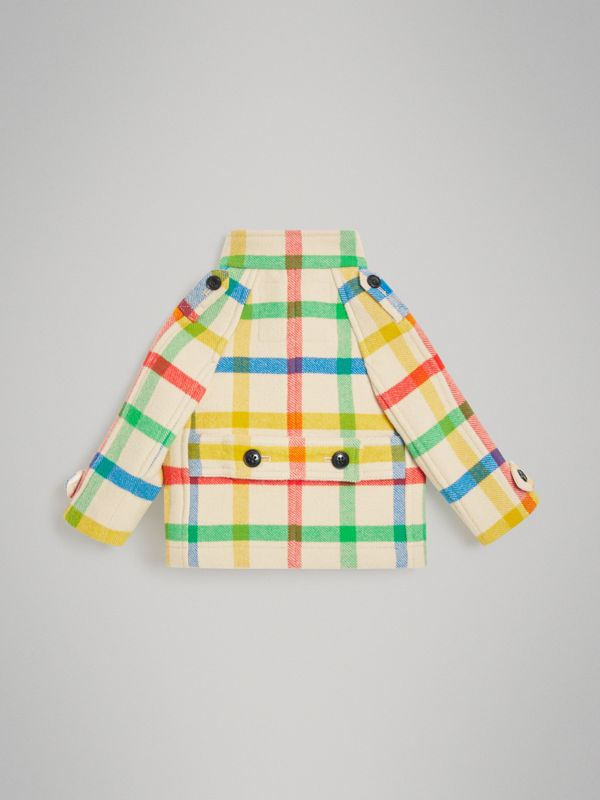 Check Wool Twill Duffle Coat in Antique Yellow - Children | Burberry - cell image 3