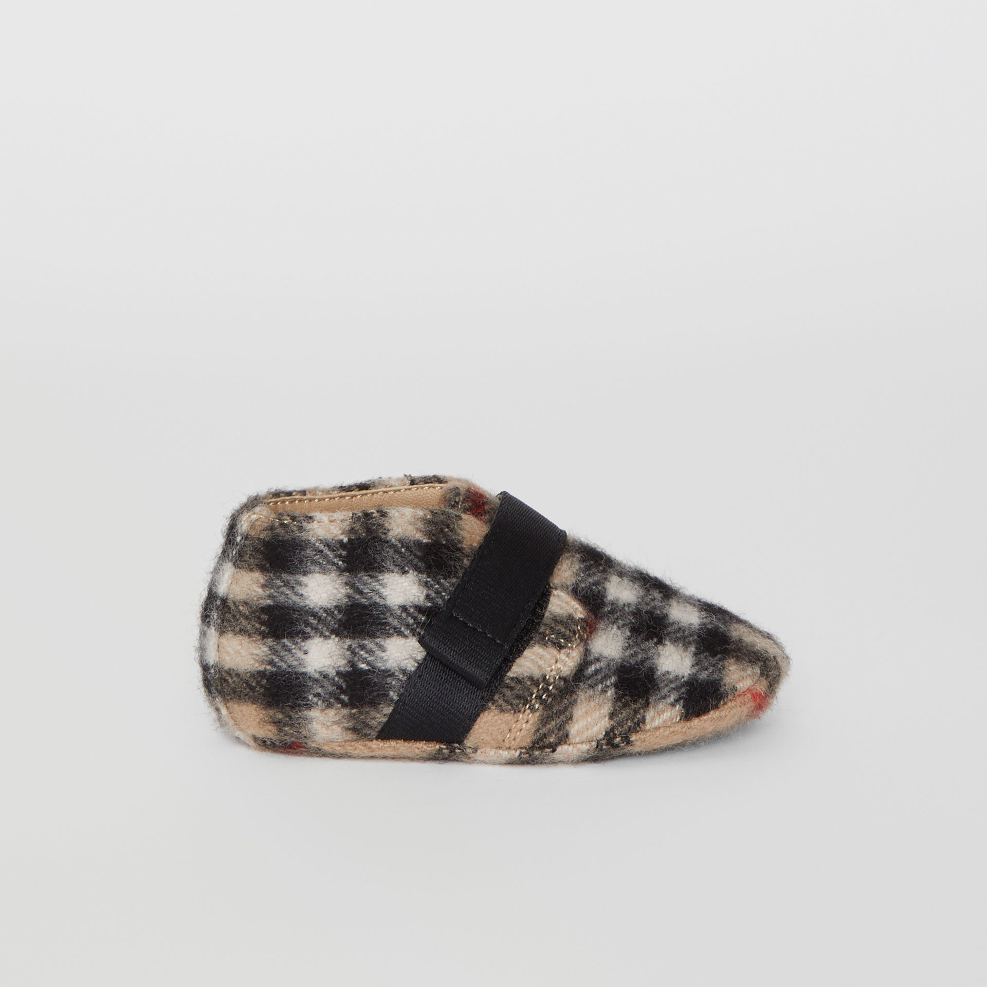 Vintage Check Wool Shoes in Archive Beige - Children | Burberry - gallery image 3