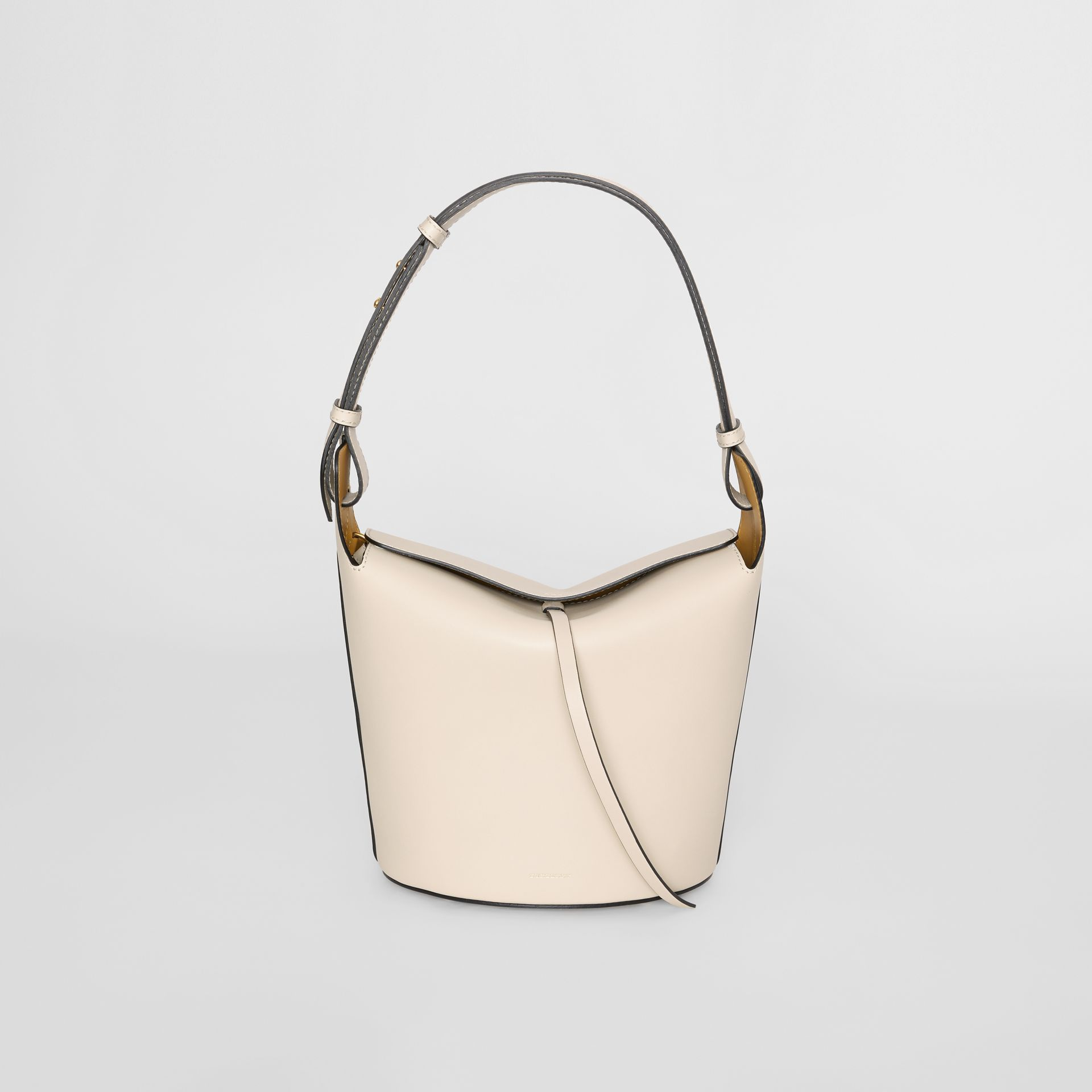 The Medium Leather Bucket Bag in Limestone - Women | Burberry - gallery image 0