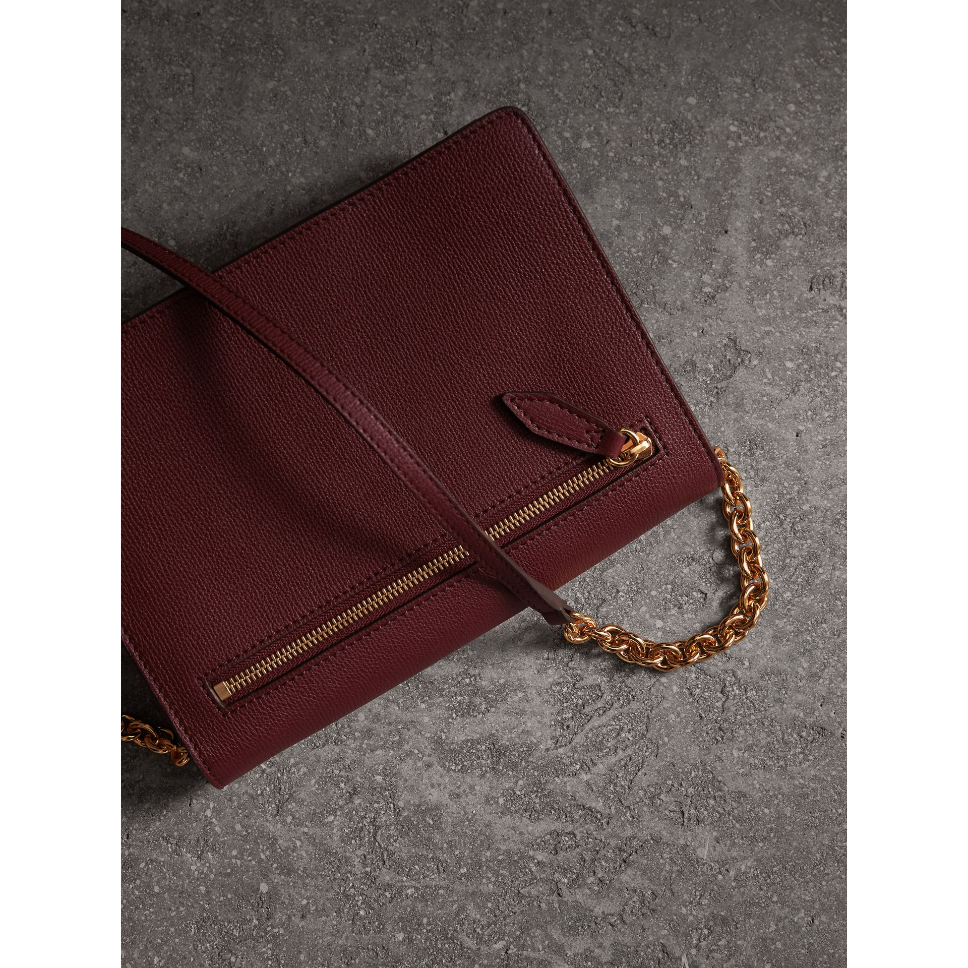 Small Leather Crossbody Bag in Mahogany Red - Women | Burberry Singapore - gallery image 4