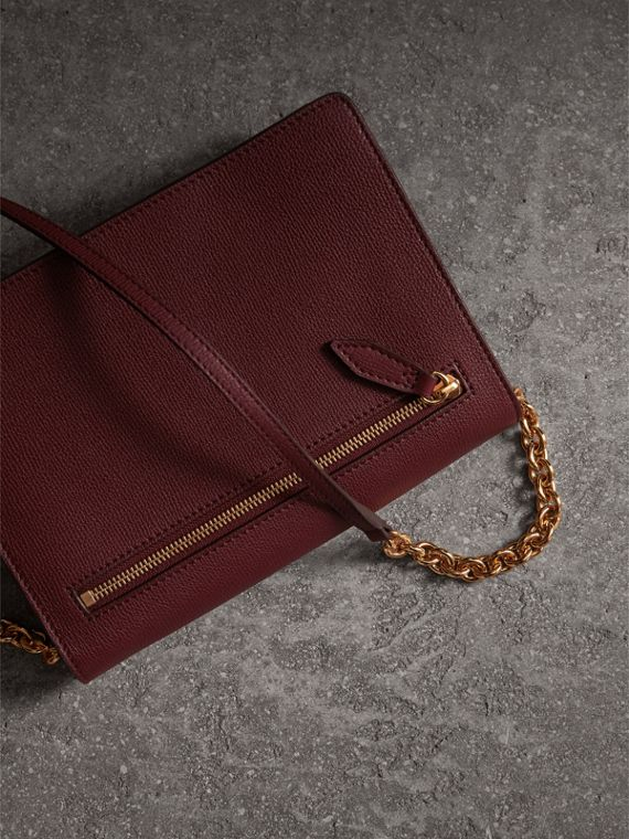 Small Leather Crossbody Bag in Mahogany Red - Women | Burberry - cell image 2