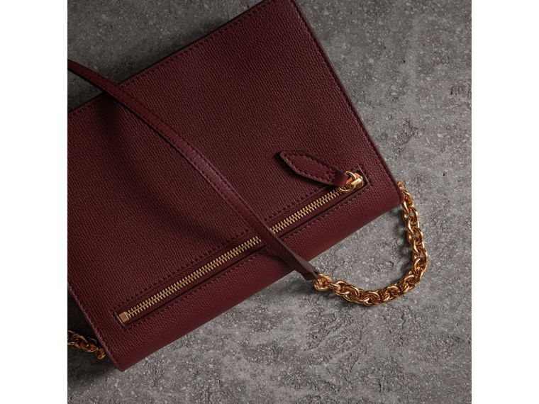 Small Leather Crossbody Bag in Mahogany Red - Women | Burberry - cell image 4