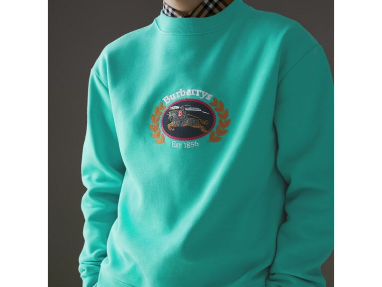 Sweat-shirt en jersey revisité (Aqua) - Homme | Burberry Canada - cell image 1