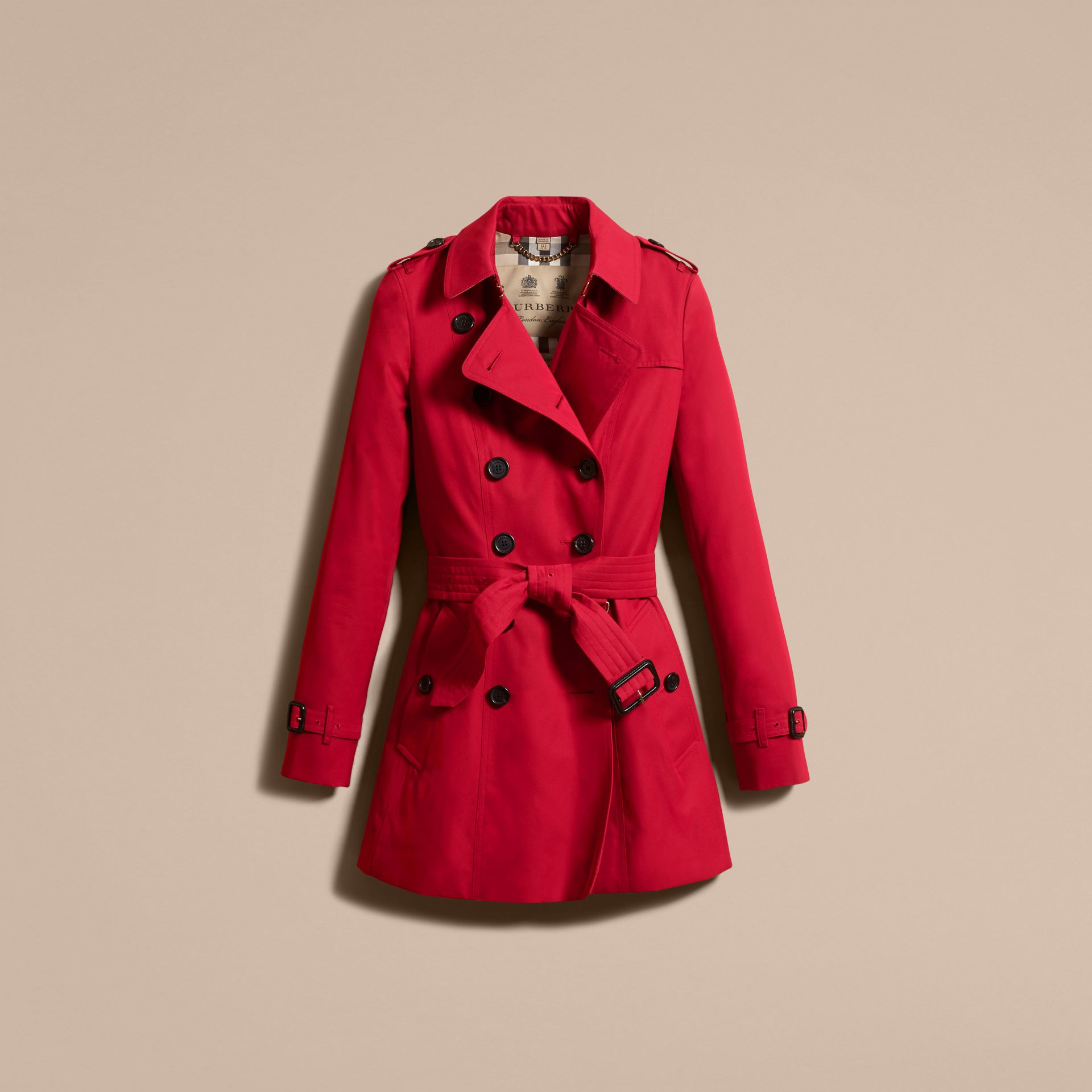 Parade red The Chelsea – Short Heritage Trench Coat Parade Red - gallery image 4