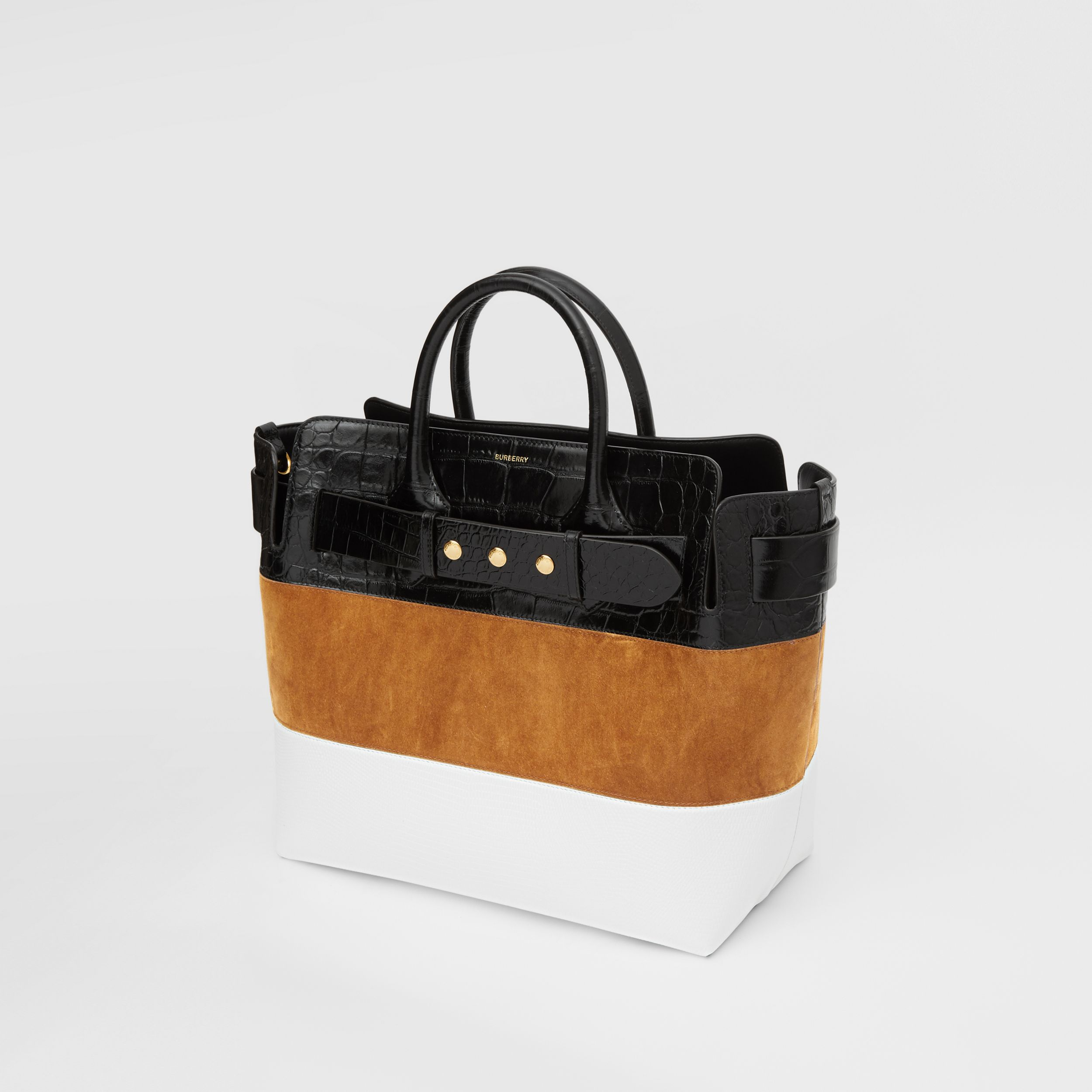 The Medium Suede and Leather Triple Stud Belt Bag in Maple/tan - Women | Burberry Australia - 4