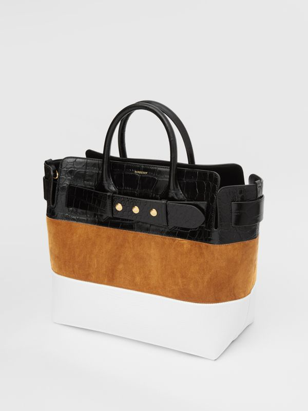 The Medium Suede and Leather Triple Stud Belt Bag in Maple/tan - Women | Burberry United States - cell image 3