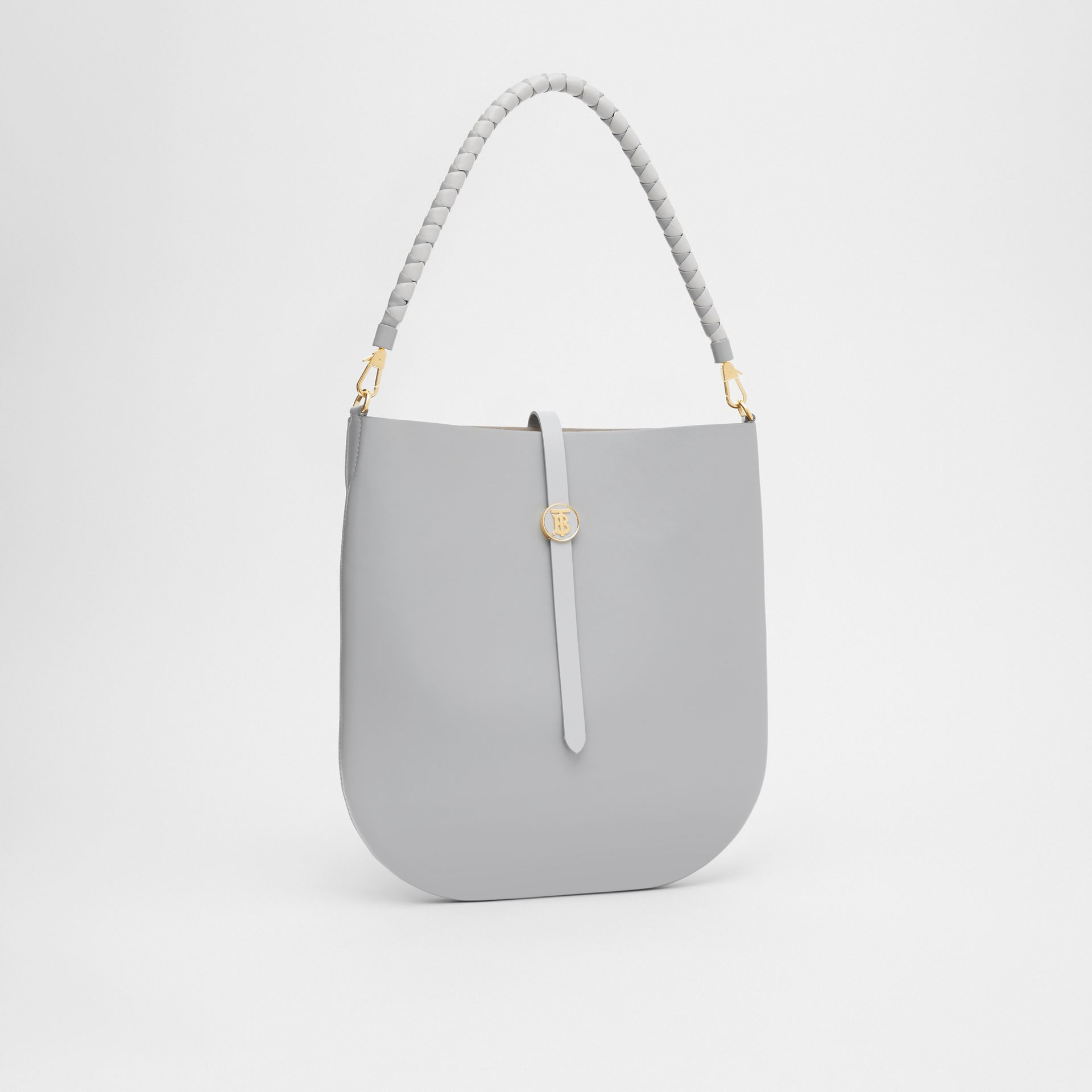 Leather Anne Bag in Cloud Grey - Women | Burberry - gallery image 6