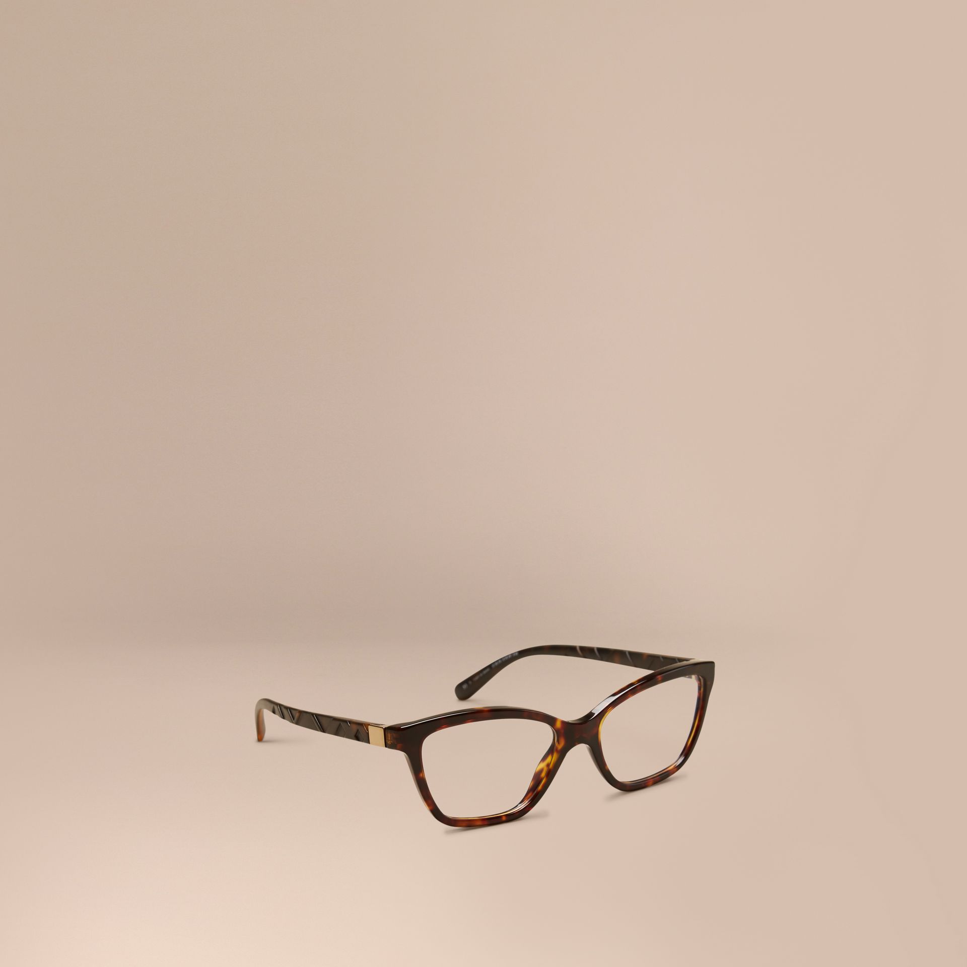 Check Detail Cat-eye Optical Frames Tortoiseshell - gallery image 1